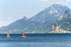 Garda lake at Malcesine Stock Photos