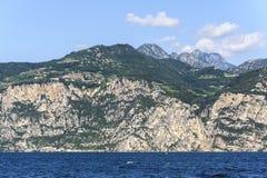 Garda lake at Malcesine Royalty Free Stock Photo