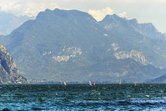 Garda lake at Malcesine Royalty Free Stock Photos