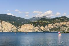Garda lake at Malcesine Royalty Free Stock Photos