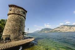 Garda lake at Malcesine Stock Photo
