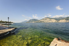 Garda lake at Malcesine Stock Images