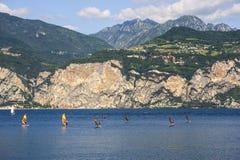 Garda lake at Malcesine Stock Image