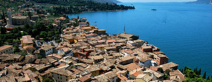 Garda lake malcesine. Garda lake, the big lake of italy Stock Photo