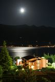 Garda lake at night royalty free stock images
