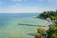 Garda lake Panorama Stock Photos