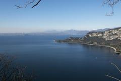 Garda lake from Rocca in Garda Royalty Free Stock Photos