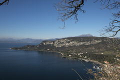 Garda lake from Rocca in Garda royalty free stock photos