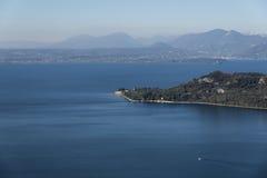 Garda lake from Rocca in Garda Stock Photos