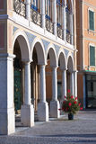 Garda lake street architecture. Street view around garda lake with classical architecture Royalty Free Stock Photography