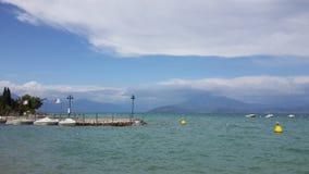 Garda Lake, Verona. A picturesque view of Garda lake, Lago di Garda, Italy Stock Images