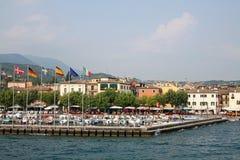 Garda from the lake. A view of Garda from the lake Garda Italy stock photo