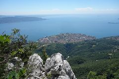 Garda Lake view from Pizzocolo Peak Stock Photography