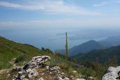 Garda Lake view from Pizzocolo Peak Royalty Free Stock Photos