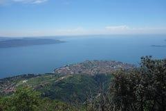 Garda Lake view from Pizzocolo Peak Royalty Free Stock Images