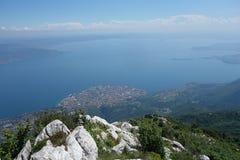 Garda Lake view from Pizzocolo Peak Royalty Free Stock Image