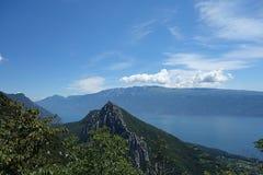 Garda Lake view from Pizzocolo Peak Royalty Free Stock Photo