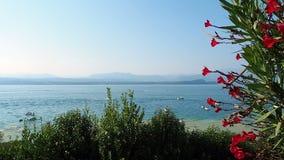 Garda lake view Sirmione Italy. Garda lake view from Sirmione Italy stock video