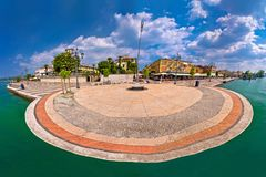 Garda lake waterfront of Lasize panoramic view Royalty Free Stock Images
