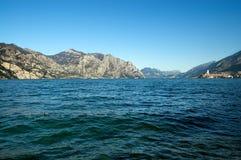 Garda Lake in Winter - Malcesine Italy Stock Photos