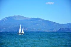 Garda lake yacht Stock Photography