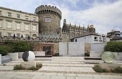 Garda Memorial Garden in Dublin Castle. Dublin, Ireland - August 20, 2014: Garda Memorial Garden in Dublin Castle Royalty Free Stock Images