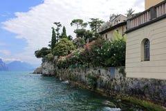 Resort Malcesine on the garda lake royalty free stock image