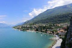 Resort Malcesine on the garda lake royalty free stock photos