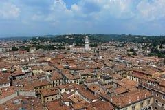 Verona from above in Italy royalty free stock photo