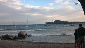 Garda ventoso del lago Imagen de archivo