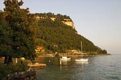 Garda, view of the promenade at Lake Garda, Italy Stock Image