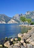 gardaitaly lake Royaltyfri Bild
