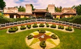 Gardaland nöjesfält i Castelnuovo Del Garda, Italien arkivfoton