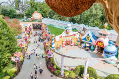 Gardaland Theme Park in Castelnuovo Del Garda, Italy. Stock Photos
