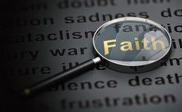 Gardant la foi en dépit du monde nous Live In illustration de vecteur