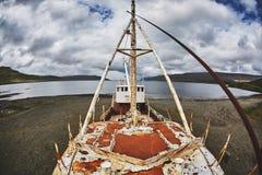 Gardar-BA 64 versenden Wrack in Island Lizenzfreies Stockfoto