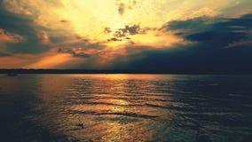 Gardasee Abenddämmerung Fotografia de Stock
