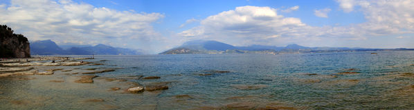 Gardasee. Panorama in the Gardasee in Italy Stock Image