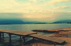 Gardasee Steeg Photographie stock