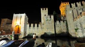 城堡garda意大利湖sirmione 免版税图库摄影