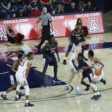 Garde Allonzo Trier Sets de l'Arizona vers le haut d'un jeu Photos stock