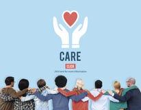 Garde Assurance Health Concept de protection de soin Photos libres de droits