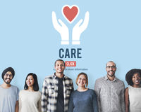 Garde Assurance Health Concept de protection de soin Photo stock
