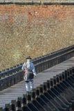Garde autrichienne marchant sur le pont de la défense Photo stock