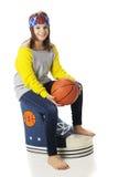 Garde d'enfants d'espadrille de basket-ball Photo libre de droits