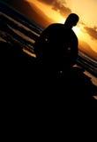 Garde d'enfants de coucher du soleil Photographie stock libre de droits