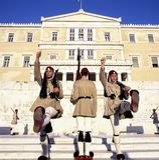 Garde d'Evzoni, gardiennes Photos libres de droits