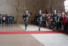 Garde d'honneur en Chiang Kai-shek Memorial Hall Photographie stock