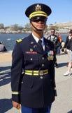 Garde d'honneur militaire de femme Image libre de droits