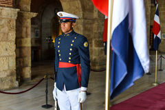 Garde d'honneur, Panthéon national, République Dominicaine  Images libres de droits